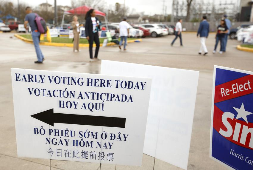 An early voting location in Houston on Feb. 21, 2018.
