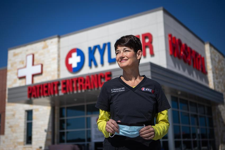 State Sen. Donna Campbell, R-New Braunfels, also works as an emergency room physician at the Kyle ER 24/7 Emergency Care.