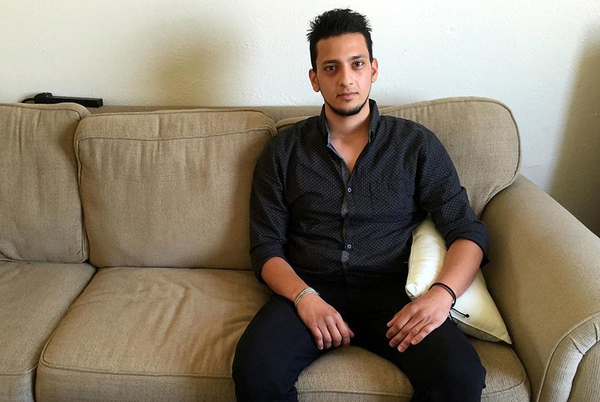 Syrian refugee Abdulrahman Zetoun