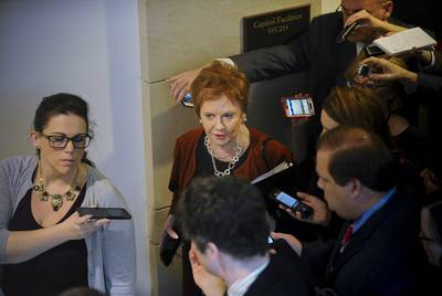 Rep. Kay Granger, R-Texas, departs a meeting after receiving a closed briefing from U.S. Border Patrol personel to discuss challenges in protecting the U.S.-Mexico border at the U.S. Capitol.