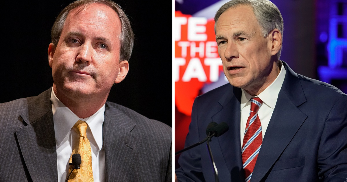 Ken Paxton tells The New York Times he doesn't support Greg Abbott for reelection