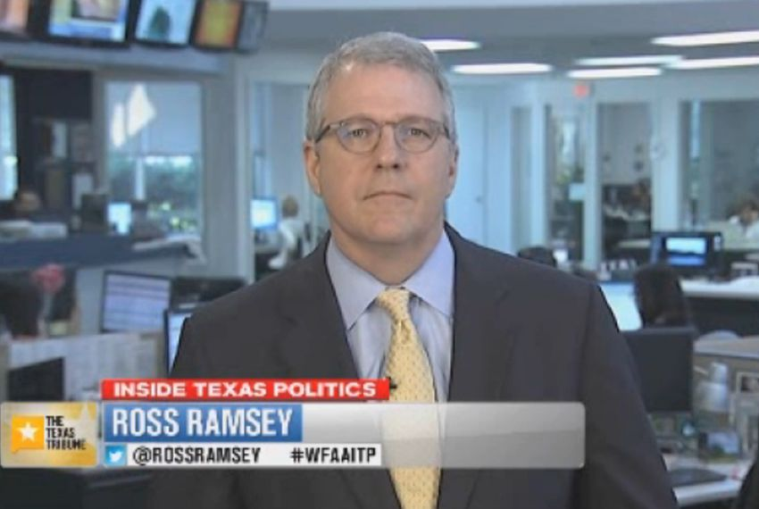 "Texas Tribune Executive Editor Ross Ramsey on WFAA-TV's ""Inside Texas Politics"" on June 1, 2014."