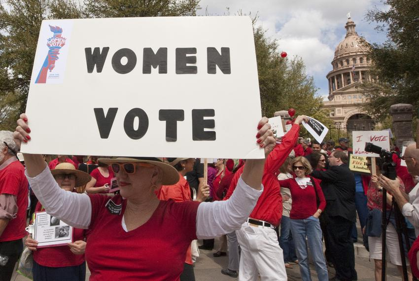 March 6th, 2012: Protest against Texas lawmakers decision regarding changed to the  the Women's Health Program. the federa...