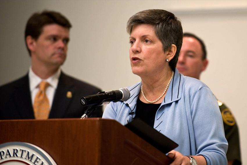 Secretary of Homeland Security Janet Napolitano visits Laredo, TX to announce the 2010 fiscal year Operation Stonegarden gra…