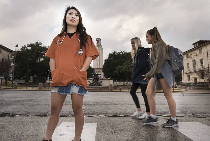 Tiffany Pham, a freshman nursing student at The University of Texas, was one of about 30 students who received an Impact S...