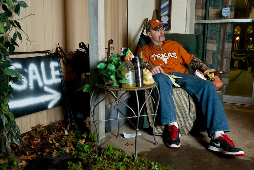 David Conis Jr. of Kemp, who has diabetes, is the subject of a battle over medical-care accountability at the Hendersonn C...