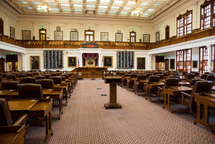 The House Chamber at the Texas Capitol on August 16, 2017, the morning after the end of the special session.