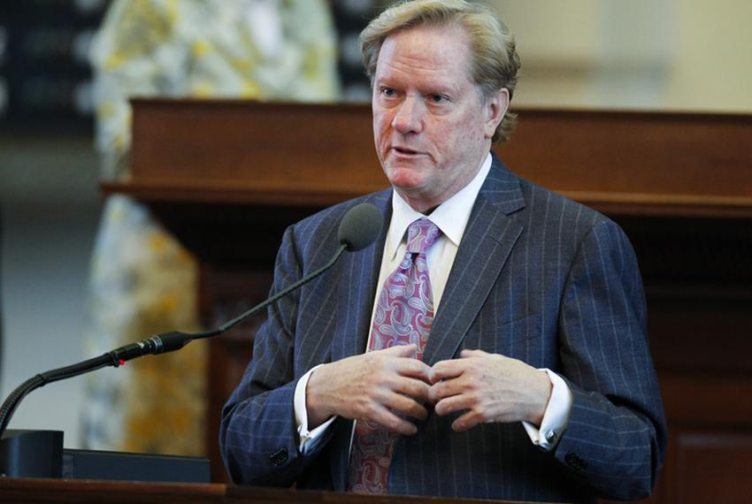 State Rep. Jim Pitts, R-Waxahachie, chairman of House Appropriations, lays out HB1 the state budget on April 1, 2011.