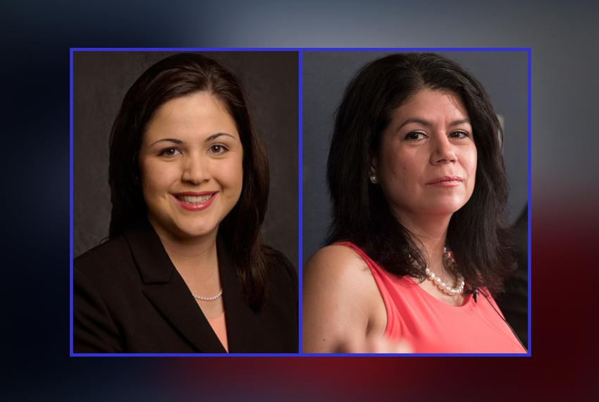 Houston Democratic state Reps. Ana Hernandez (left) and Carol Alvarado (right).