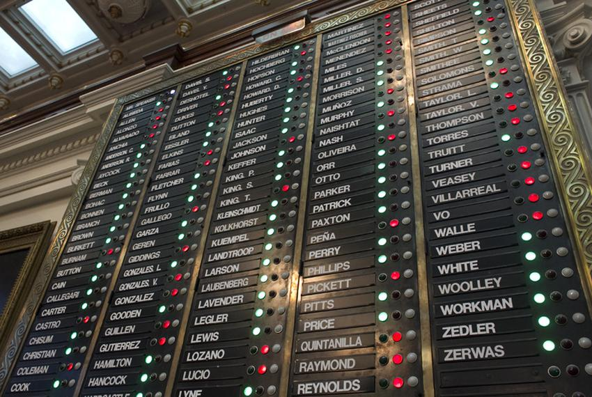 The House voting board reflects the members' 97-53 vote to pass HB1 the state budget late Saturday evening on May 28, 2011.