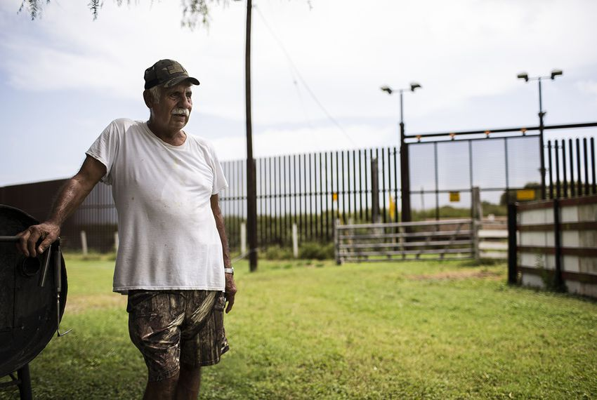The federal government took part of Juan Cavazos' land in Brownsville roughly a decade ago to build border fencing.