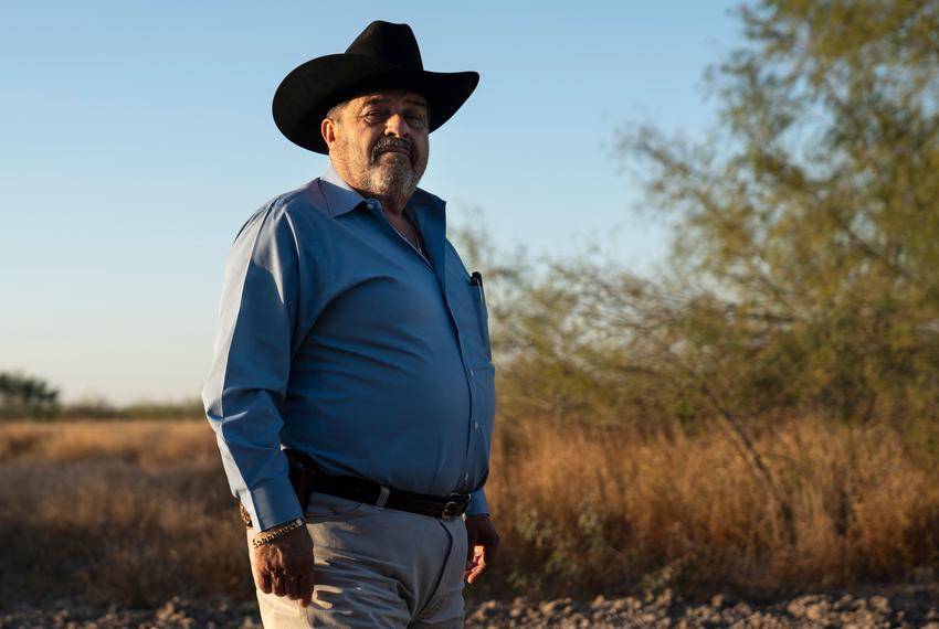 Ociel Mendoza at his ranch in La Grulla. The U.S. government has requested to take possession of Mendoza's land under the De…