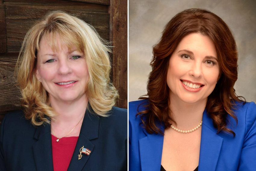 Republican Pam Little, left, is facing Democrat Suzanne Smith for the open State Board of Education District 12 seat.