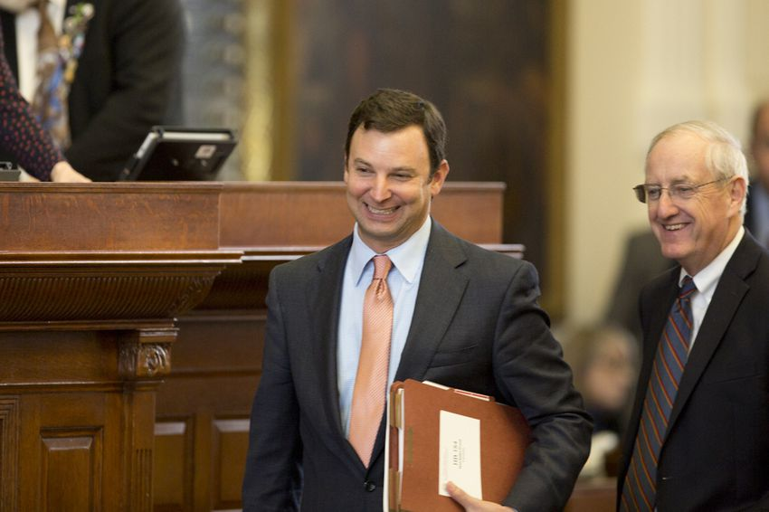Rep. Craig Goldman R-Fort Worth, smiles after Senate Bill 5, the mail-in voter fraud bill, passed to third reading on Aug. 9, 2017