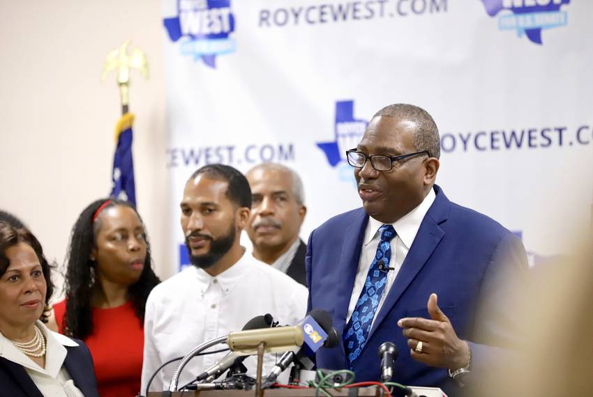 State Sen. Royce West, D-Dallas, announced his U.S. Senate run in July.