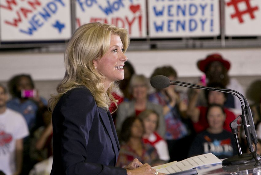 State Sen. Wendy Davis, D-Fort Worth, announces her candidacy for governor on Oct. 3, 2013, in Haltom City.