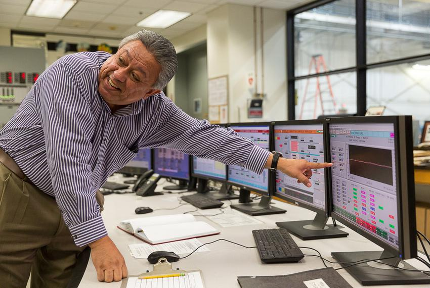 Juan Ontiveros manages the University of Texas at Austin's energy system, which generates electricity, heating and cooling...