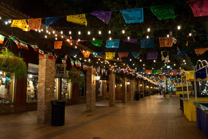 San Antonio's historic Market Square during Fiesta.