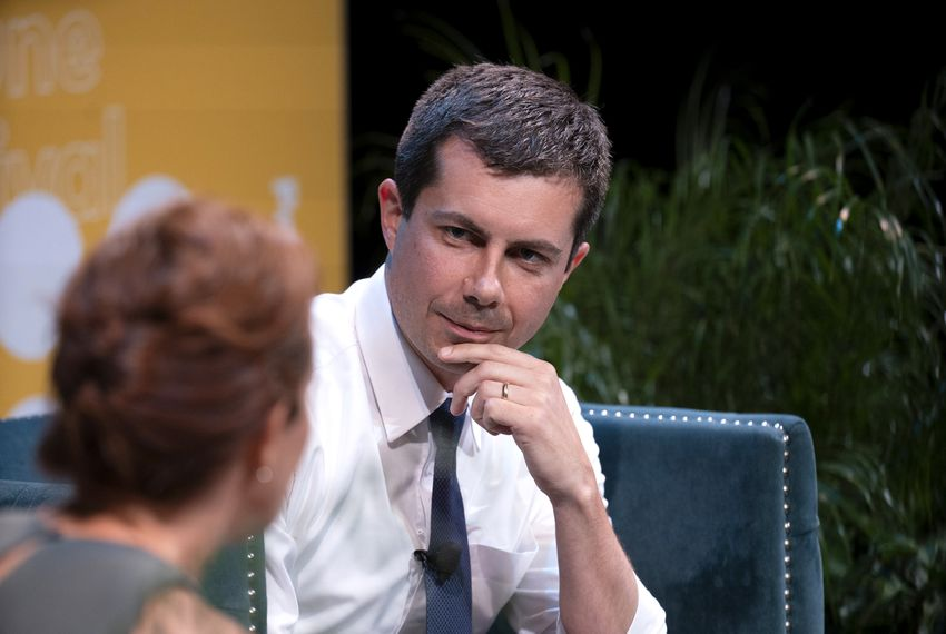 South Bend, Indiana, Mayor Pete Buttigieg, a Democratic presidential candidate, speaks with MSNBC's Stephanie Ruhle at the 2019 Texas Tribune Festival.