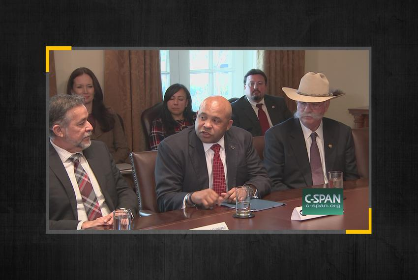 At center of photo, John Jones, the former Texas Department of Public Safety Chief of Intelligence and Counterterrorism.