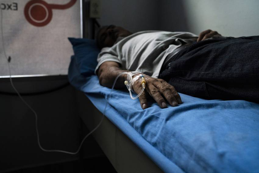 José, Carlos\u0027 father, is admitted into a private clinic after health complications. He says he does not work because he falls ill very frequently when he do...