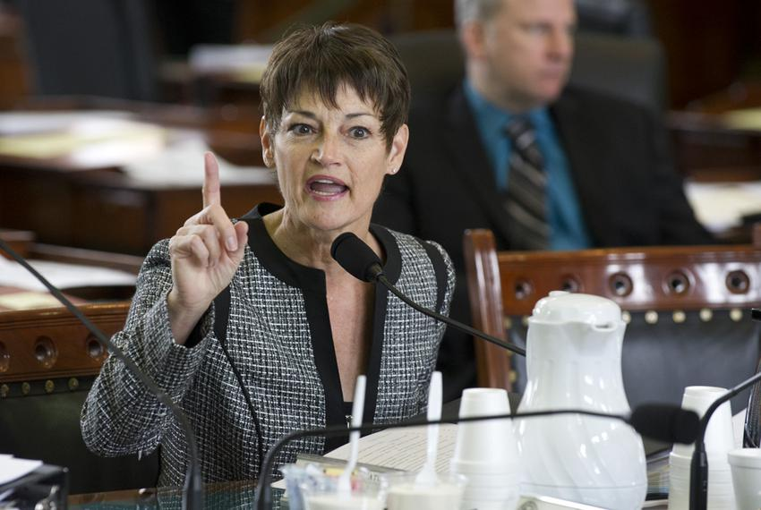 Sen. Donna Campbell, R-New Braunfels, gives a passionate response on SB 537 an abortion regulation bill in Senate Health & H…