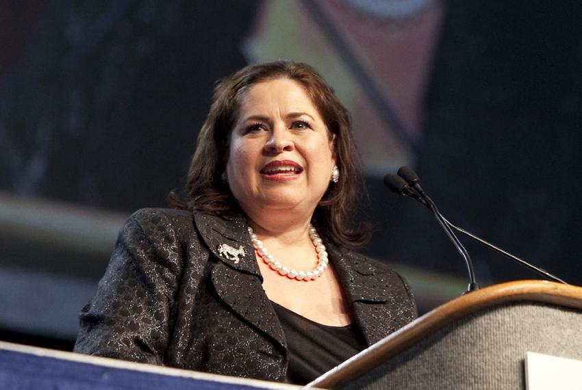 State Sen. Leticia Van de Putte, D-San Antonio, at the Texas Democratic convention on June 26, 2010.