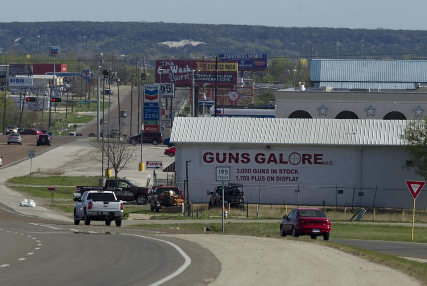 The Guns Galore shop in Killeen where alleged Fort Hood shooter Ivan Lopez purchased the handgun used in the April 2, 2014 m…