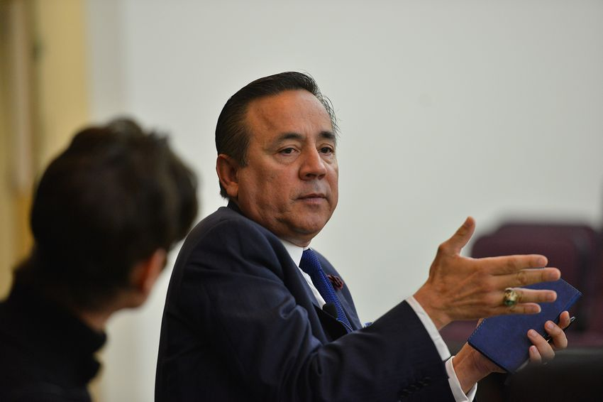 State Senator Carlos Uresti, D-San Antonio, at a Texas Tribune legislative preview on Dec. 2, 2016. Uresti's San Antonio office was raided by the FBI on Feb. 16, 2017.