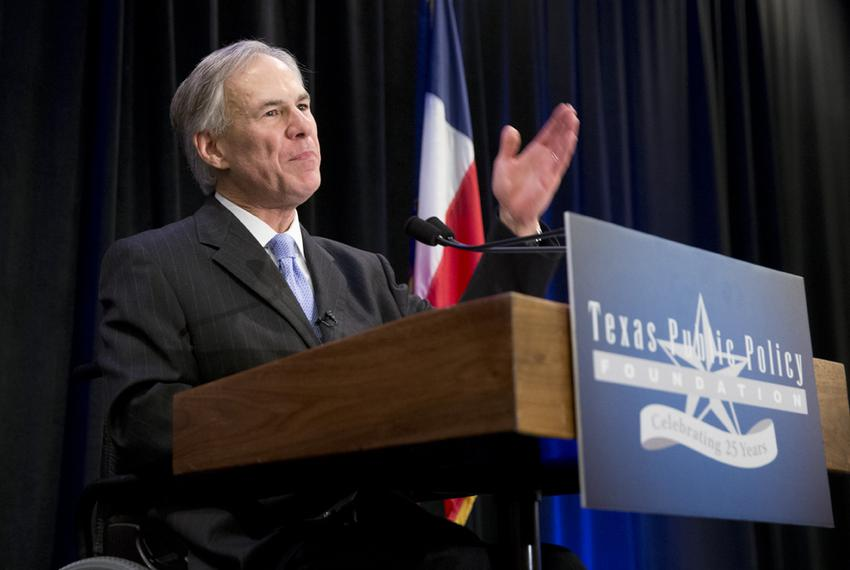Attorney General Greg Abbott speaking at TPPF closing luncheon on Jan. 10, 2014.