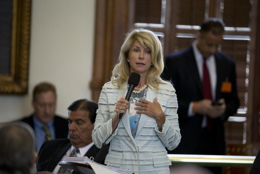 State Sen. Wendy Davis, D-Ft. Worth, begins a filibuster of SB 5 the abortion regulation bill on June 25, 2013.