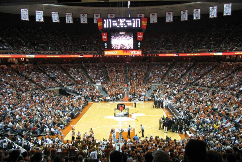 University of Texas Men's Basketball game at the Frank Erwin Center against the Baylor Bears.