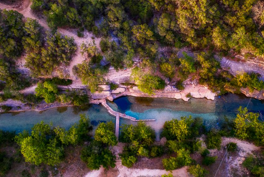 Jacob's Well near Wimberley, Texas is a natural spring flowing about 900 gallons a minute that 35,000 visitors from around t…