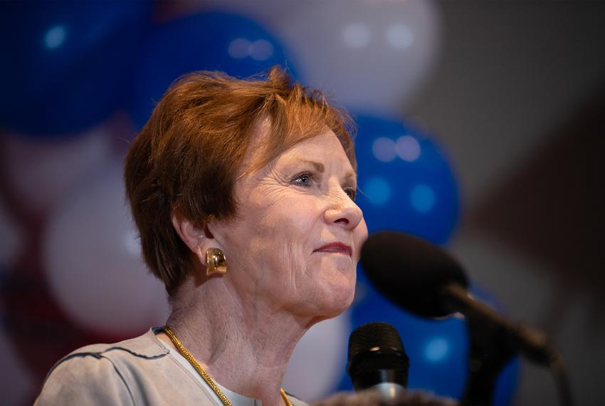 As the 2020 primary election results trickled in, U.S. Rep. Kay Granger, R-Fort Worth, spoke to supporters at Blue Mesa re...