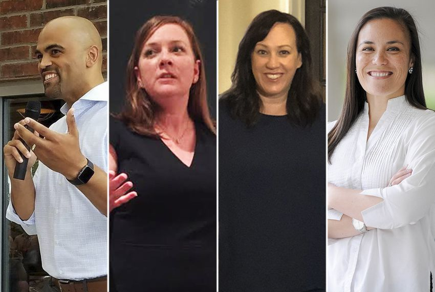 Left to right: Colin Allred, Lizzie Pannill Fletcher, MJ Hegar and Gina Ortiz Jones.