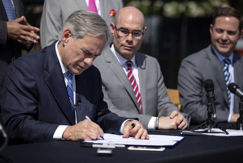 Republican Gov. Greg Abbott signed a bill limiting property tax growth without voter approval Wednesday.