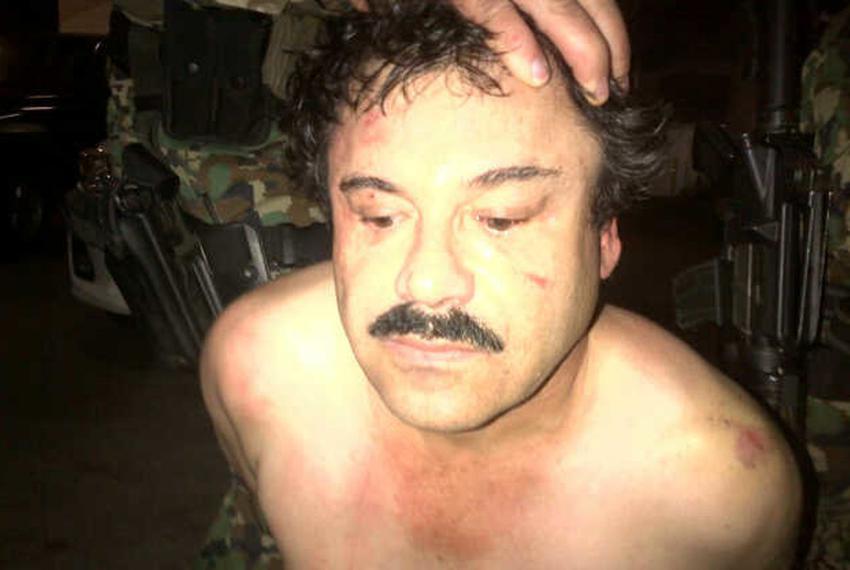 "A picture of Sinaloa drug cartel leader Joaquín ""El Chapo"" Guzmán Loera is released by Mexican law enforcement officials in …"