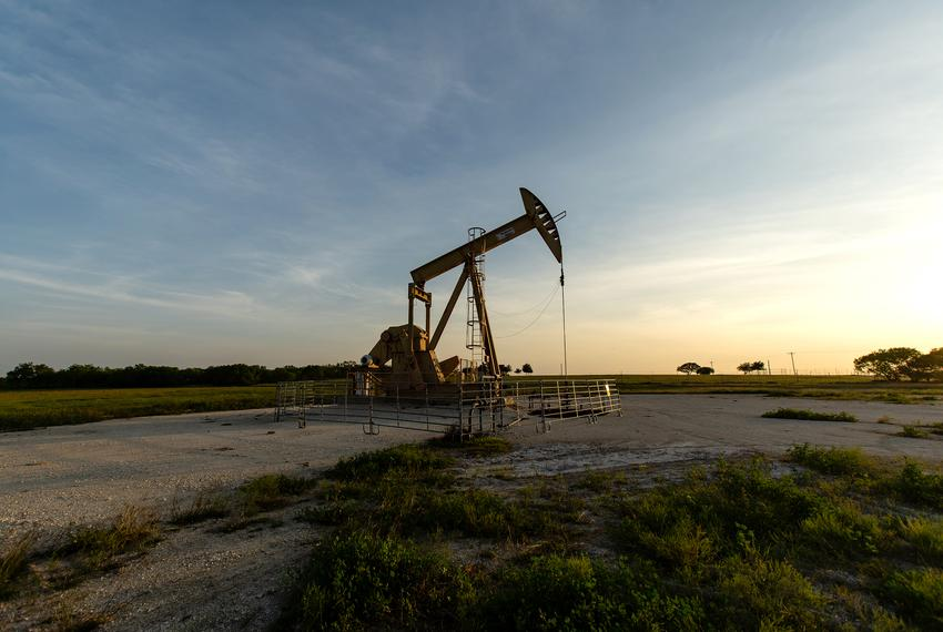 A pump jack in the Eagle Ford oil patch south of San Antonio.