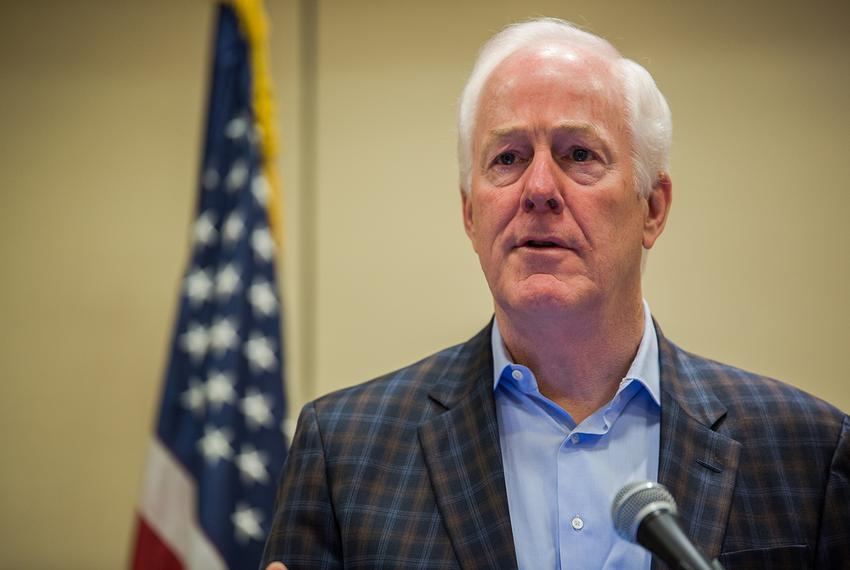 U.S. Sen. John Cornyn, R-Texas, speaks at the Texas State Rifle Association general meeting in Round Rock on Feb. 25, 2017.