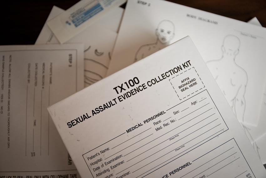 A sexual assault evidence collection kit.