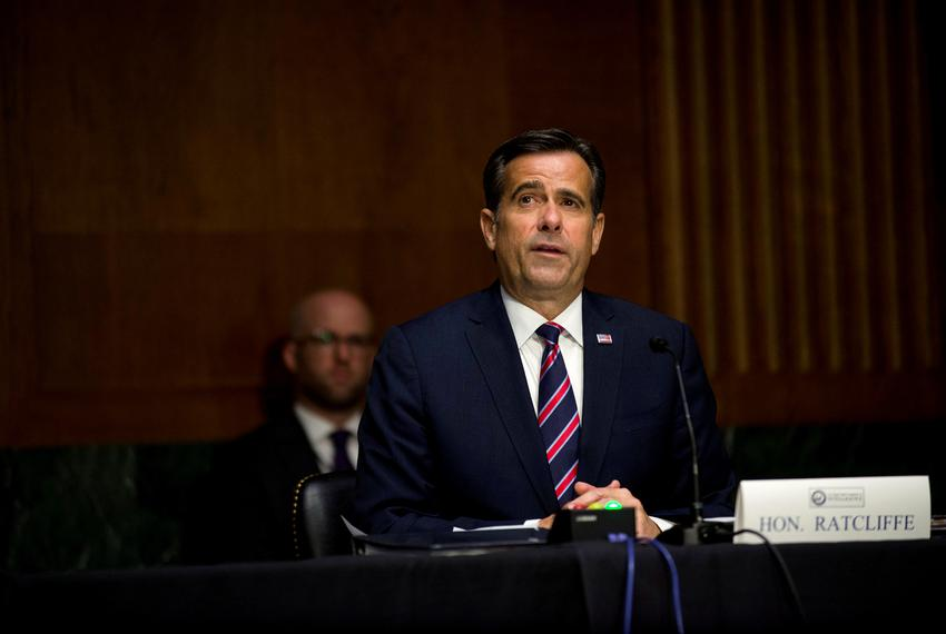 U.S. Rep. John Ratcliffe, R-Texas, testifies before a Senate Intelligence Committee nomination hearing on Capitol Hill in ...