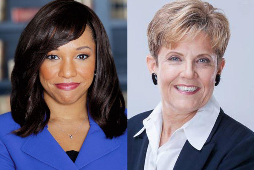 Rep. Stefani Carter, R-Dallas, left, faces former Dallas City Council member Linda Koop, right, in the HD-102 Republican primary runoff.