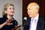 Sen. Kay Bailey Hutchison and Houston mayor Bill White.