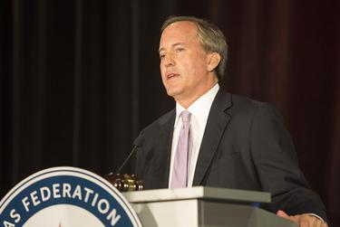 Texas Attorney General Ken Paxton spoke at the 2017 Texas Federation of Republican Women Convention in Dallas.