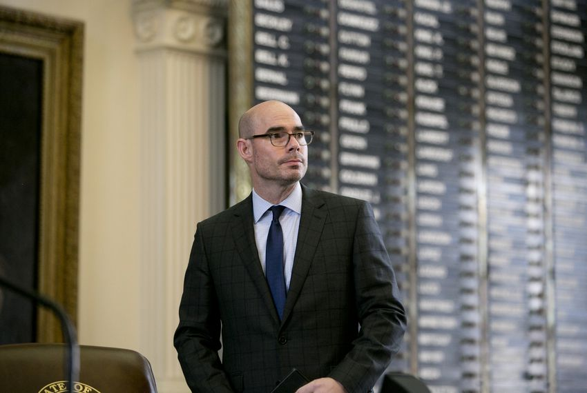 House Speaker Dennis Bonnen during the Texas Fallen Heroes ceremony at the Capitol on May 25, 2019.