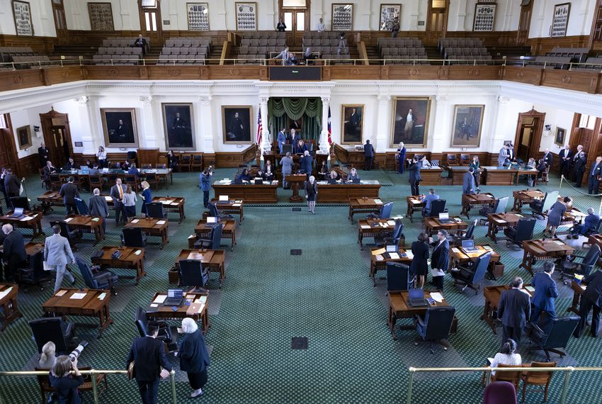 The Senate floor during the 86th legislative session. Jan. 9, 2019.
