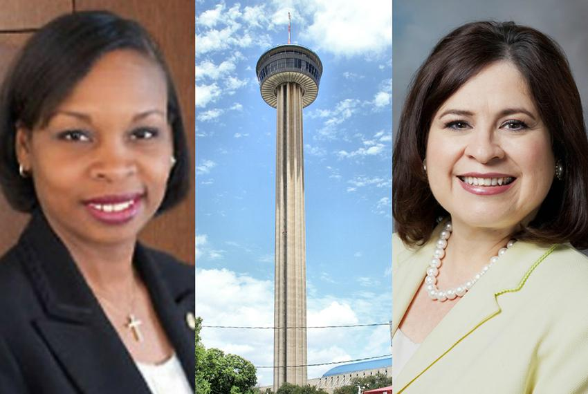 Ivy Taylor (left) was elected mayor of San Antonio on Saturday after defeating former state Sen. Leticia Van de Putte in a...