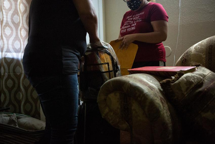 MarÌa, an undocumented immigrant, had to leave her apartment in Houston in mid-March.