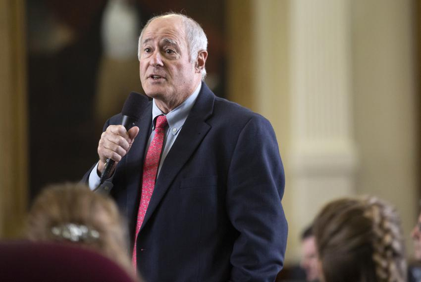 State Sen. Kel Seliger, R-Amarillo, in the Senate chamber on April 11, 2019.