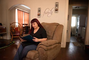 Melissa Romo at her home on San Antonio's West Side.